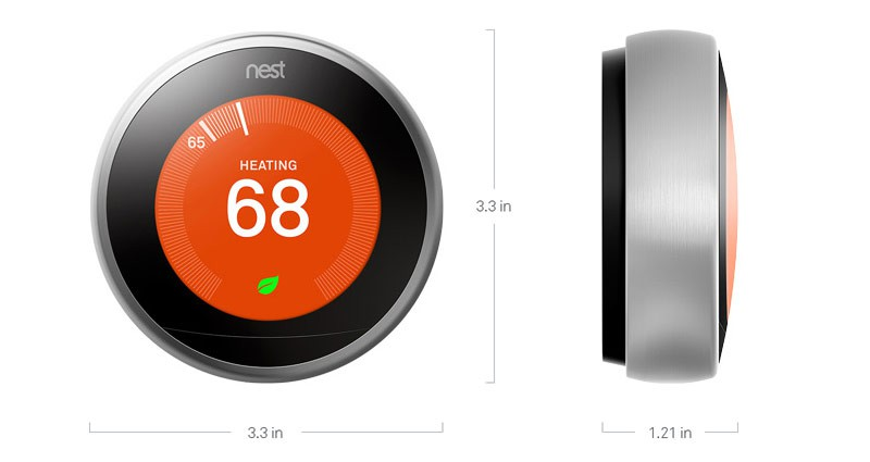 Nest Learning Thermostat Technical Specs